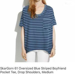 SkarGorn oversized striped boyfriend tee